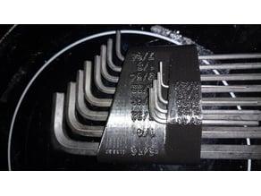 English hex key holder