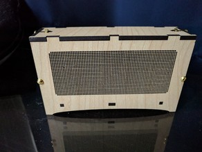 Wood, single POV ice tube clock enclosure