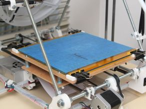 Printer bed glass sheet holder
