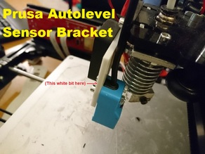 Auto-level Sensor Bracket for Prusa-style 3D-printers
