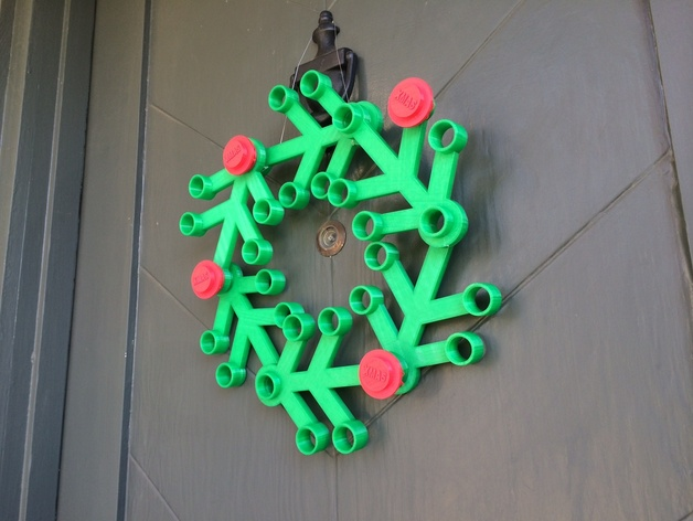 Giant Lego Christmas Wreath By Slimchaps Thingiverse