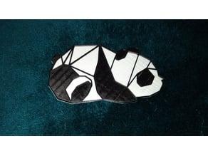 Flat Panda Background for 2d Wall Art Panda