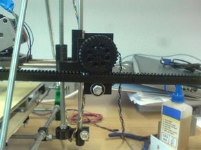 Rack & pinion for X-Axis