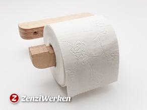 Toilet Roll Holder 'The Bend' cnc/laser