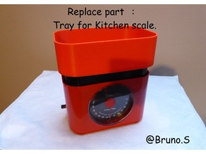 Tray for kitchen scale