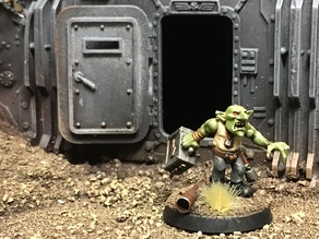 Bulkhead Door for Necromunda Wall Section