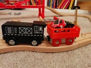 Wooden train container wagon car platform