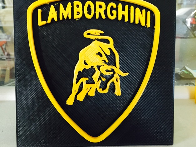 Lamborghini 3d Logo By Navy30000 Thingiverse