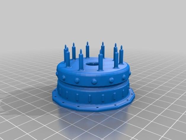 Birthday Cake Candle Holder by fullandc Thingiverse