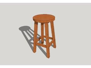 Bistro stool / Bistro tabure-diorama