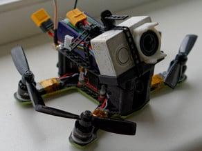 "ZMR160 remake - 3.5"" props, angled motormounts, cam mount, rear cap"