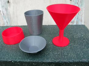 Parametric Wine Glass and Bowls