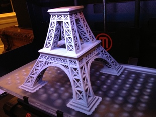 Eiffel Tower somewhat cleaned and plated