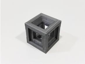 Test calibration cube 20x20x20 mm