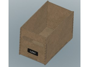 Parametric plywood box with handle and label