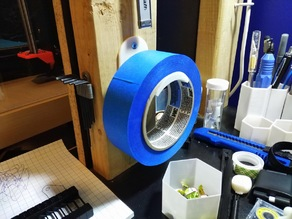 Wall mountable tape holder