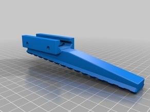 Angled picatinny rail