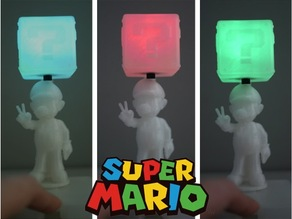 Super Mario with shining quetion box