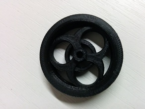"""Bio Hazard design"" wheel for R/C planes"