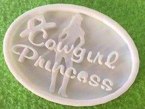 Cowgirl princess buckle clip