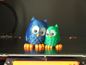 Cuddling Owls (multi-material)