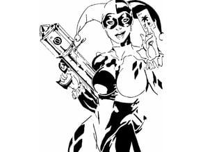 Harley Quinn stencil 3