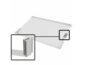 Siemens Kühlschrank Halterung für Boden / Glas; Refrigerator Fridge bracket for floor / glass