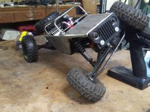 HCF R/C RockCrawler front grille/bumper - Jeep Style