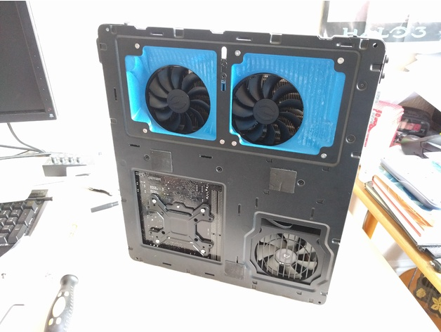 Custom Ducting For Node 202 Case And Evga Acx 3 Graphics