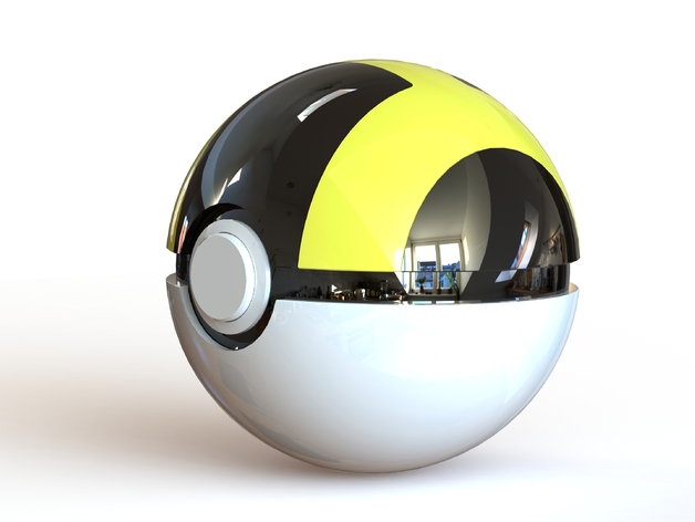 Ultra Ball Fully Functional Pokeball With Button And Hinge By Mrfozzie Thingiverse