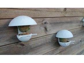 Mushroom fat ball birdhouse feeder