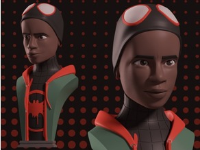 Miles Morales Bust - Into the Spider-Verse