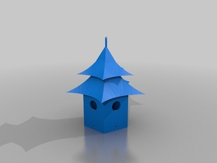 Birdhouse Pagoda Style