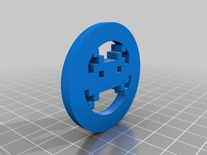 Space Invader Keychain