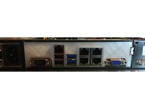 1U IO Shield/Backplate for Supermicro A1SAI/A1SRI Mainboards
