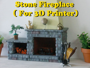 Fireplace for dollhouse 1:12 scale