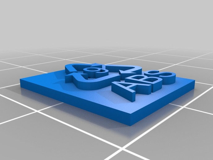 Recycle Symbol 9 Abs Plastic By Rexosaurus Thingiverse