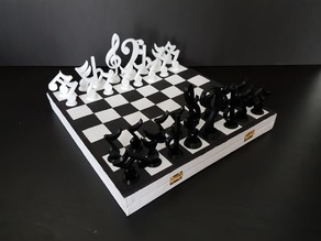 Music notes chess