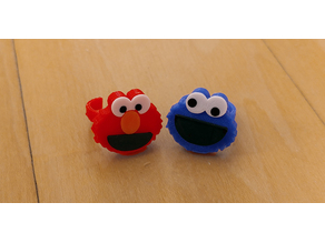 Elmo and Cookie Monster Rings / Party Favors