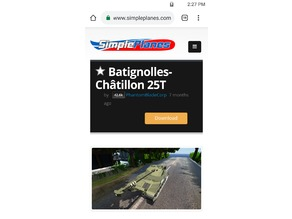 SimplePlanes Bat. Chat. 25T