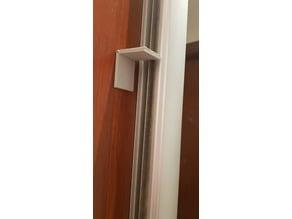 Sliding door wardrobe lock (catproofing the wardrobe)