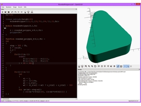 rounded polygon lib func for OpenSCAD