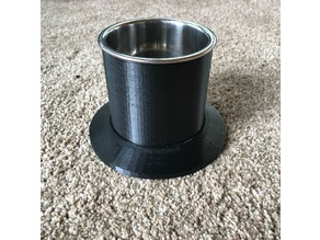 Drink holder with large diameter base