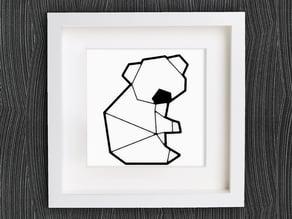 Customizable Origami Cute Koala