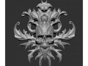 Ornament skull pendant