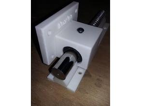 Mancal com fixação lateral e perfil para eixo linear rolamento aberto 20 mm CNC