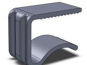 Tablecloth clamp for a 13mm, 18mm & 25mm thick table