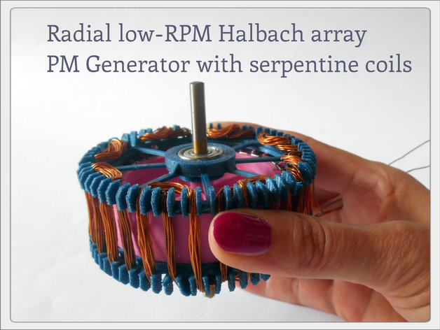 Radial Low Rpm Halbach Array Pm Generator With Serpentine