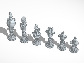 Steampunk Robot Chess