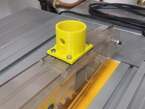 Vacuum mount for table saw